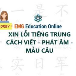 Xin Lỗi tiếng Trung Chân thành Cách viết Phất Âm và Mẫu câu